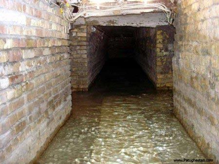 آب زیر حرم حضرت عباس